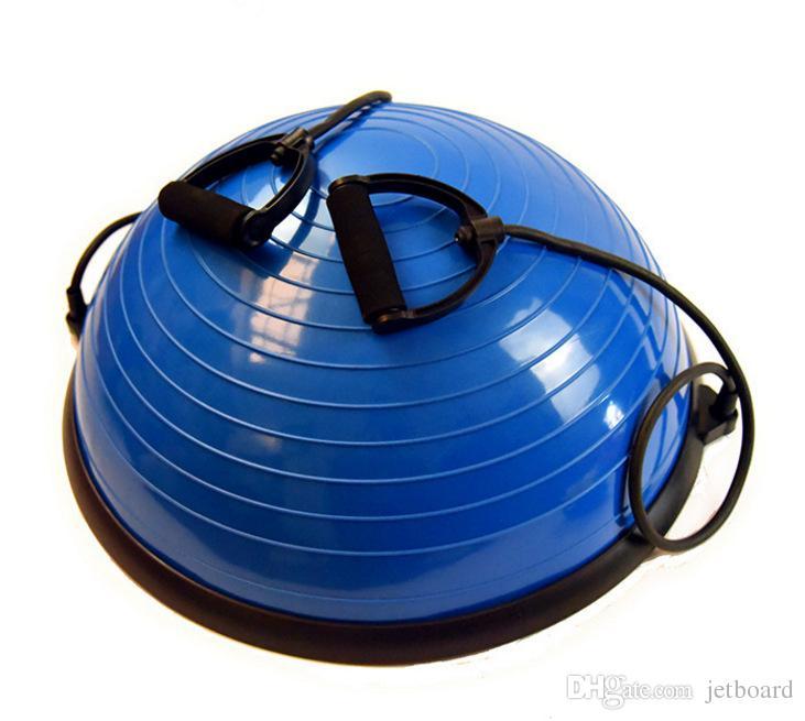 22.8 / 58cm Pro Sports Balance Ball Ball، 2 سلاسل مرنة رياضة اليوغا نصف الكرة ، كرات تمرين اللياقة البدنية