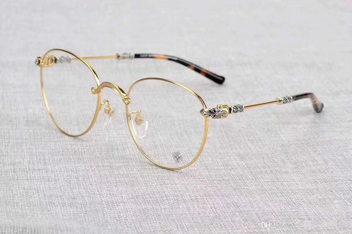 Nouveau cadre de lunettes clair cadre de lunettes reconstituant des moyens anciens oculos de grau hommes et femmes myopia lunettes montures avec cas 04