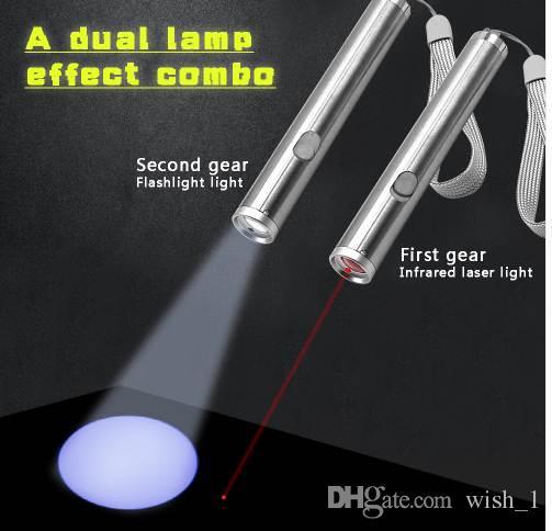 Interactive LED Light Pointer Cat Laser Toy Creativo Pet Toy Funny Cat Light Pen Interactive per la riproduzione di allenamento