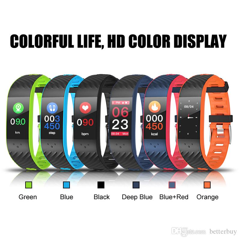 New Hot Touch Screen Smartband Heart Rate Blood Pressure Wristband better than Miband2 for Xiaomi Smart Bracelet Android IOS smart band P4
