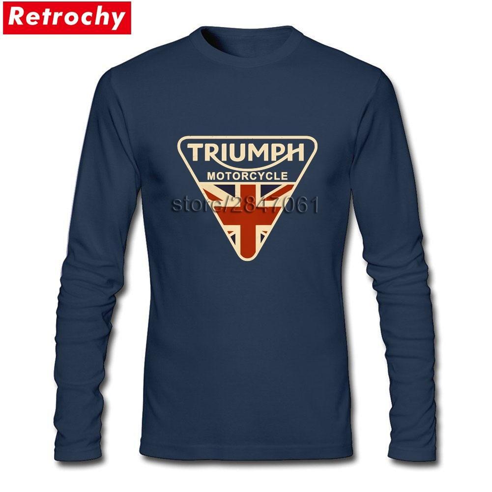 Mode Craked Union Jack Royaume-Uni Drapeau T-shirt Homme Marque Designer manches longues Boy T-shirts Taille asiatique