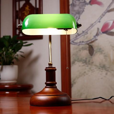 2019 Bankers Desk Lamp Vintage Glass Cover Table Lamp Creative Bedroom Bedside Table Decorated American Retro Lighting Fixture From Alluring 151 7