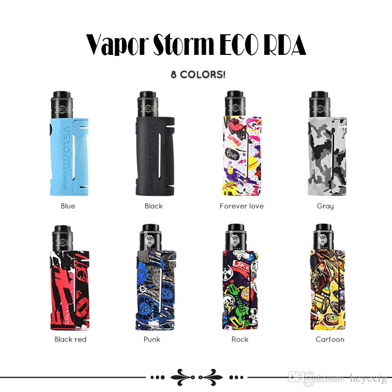 Vapor Storm ECO RDA Kit de démarrage 1 pc Fit 18650 Batterie Stylo Vape Graffiti Box Mod Pour 510 Fil Kit Kit E-cig