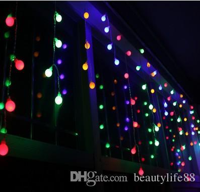 4 متر 100 ماتي الكرة بقيادة الستار سلسلة أضواء عيد الميلاد حفل زفاف الديكور الكرة جليد أضواء الطوق