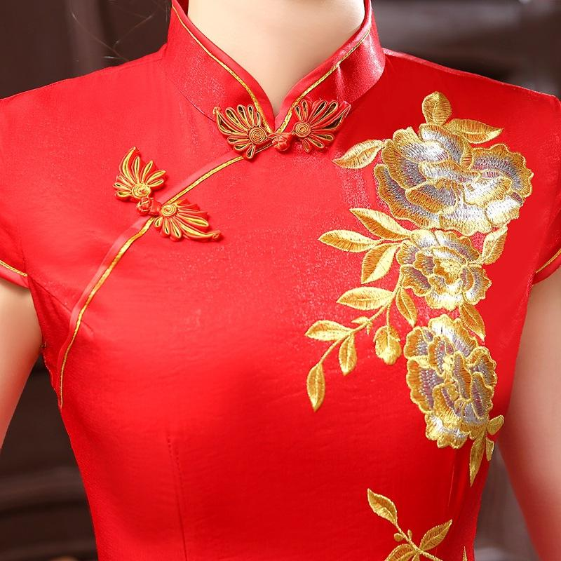 2017 estilo Chinês c 0041 noiva Tang vestido longo Longfeng cheongsam