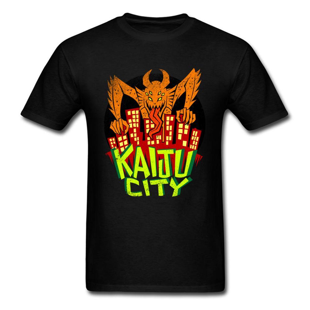 Camisa blanca para hombre Other Planet Creature Kaiju City Tshirt Calidad para hombre Anime Movie Playeras Crewneck Brands Clothing Tee