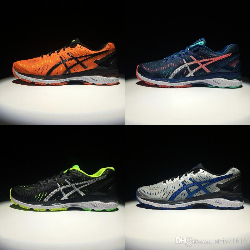 81f830be57e 2018 Wholesale New Asics GEL-KAYANO 23 For Men Running Shoes Top Quality  Athletics Discount Sneakers Sports Shoes Boots Size 40-45