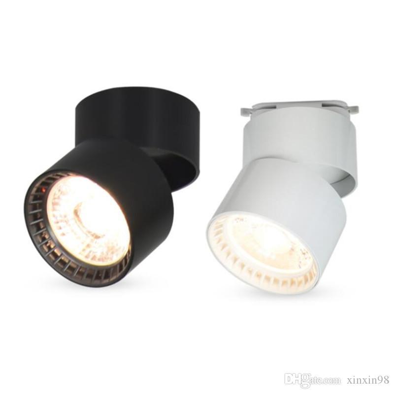 COB-LED Strahler 15W Surface Mounted LED Deckenleuchten Spot-Licht 360-Grad-Drehung LED Schienenbeleuchtung AC85-265V