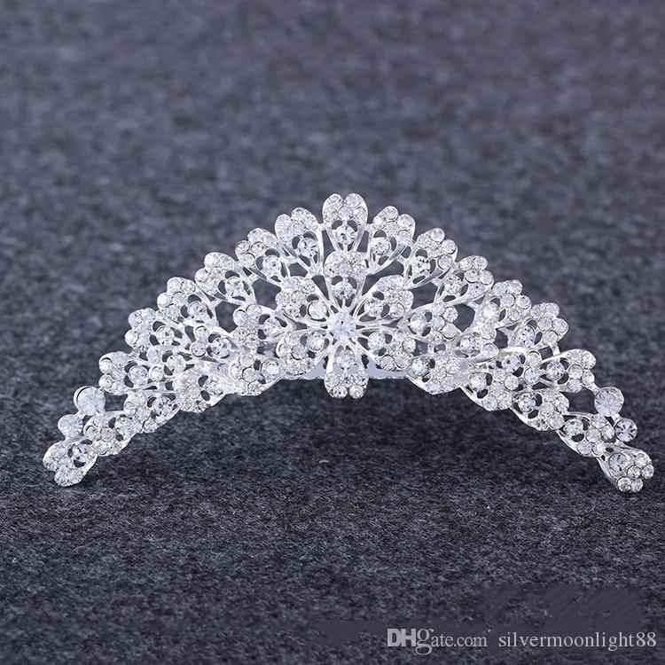 الرياح الأوروبية والأمريكية الفاخرة هو دليل نقية العروس الماس الشعر هوب تاج تاج مجوهرات الكريستال الديكور
