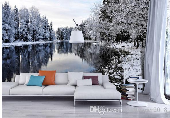 wallpapers for living room mountains lake forest snow landscape nature landscape background wall