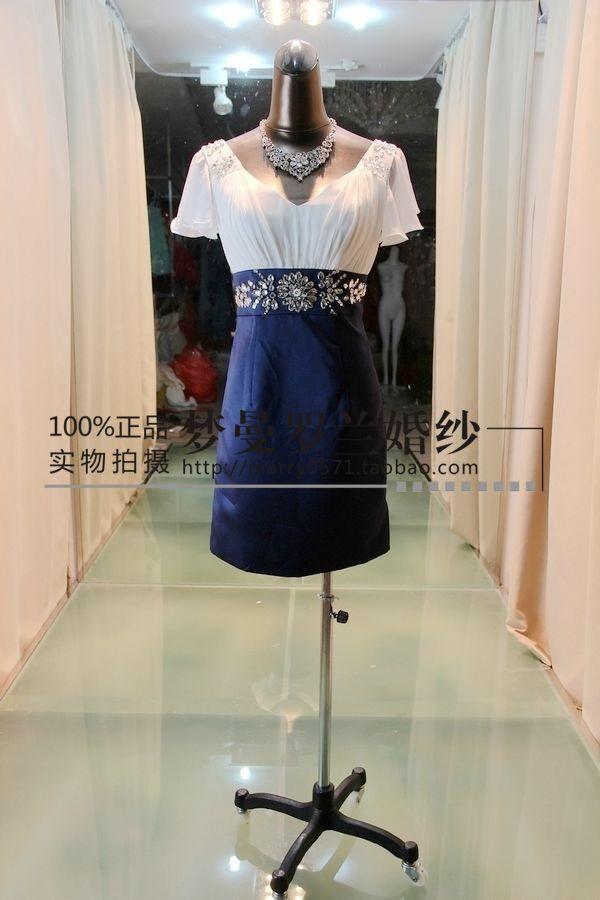 free shipping 2018 new arrival vestidos de fiesta crystal beaded v- neck cap sleeve elegant short unique evening party Dresses