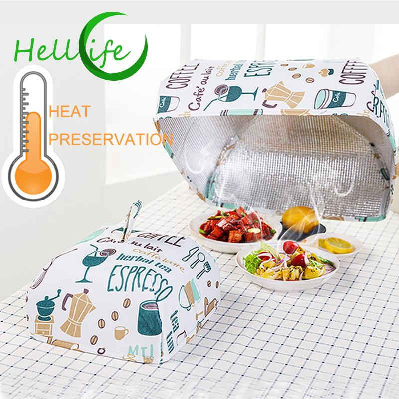 Foldable Food Cover Keep Warm Hot Reusable Aluminum Foil Covers Dishes Insulation Utilidades Kitchen Table Accessories Tools