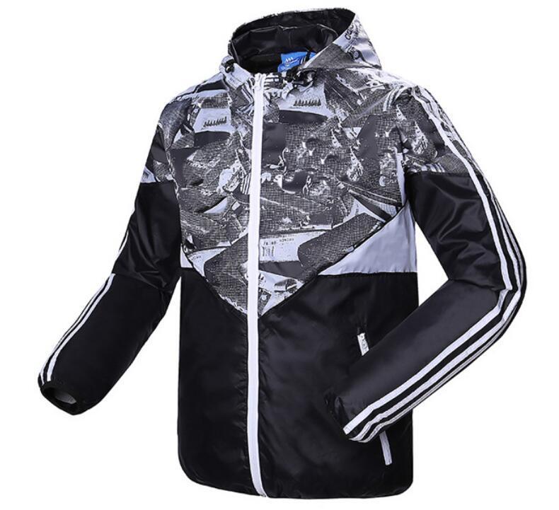 Fashion new Blue long sleeve men casual jacket coat Autumn sports Windbreaker with zipper Windbreaker men clothing plus size