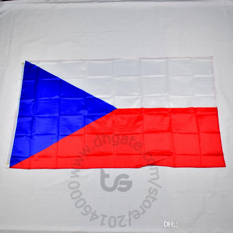 bandeira nacional da República Checa gratuito 3x5 transporte FT / 90 * 150 centímetros Hanging Bandeira nacional Checa Decoração bandeira da bandeira