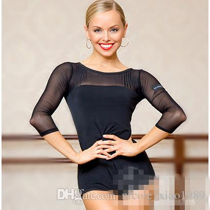 Nouveau Noir Adulte / Filles Vêtements De Danse Latine Tango Salsa Ballroom Pratique Moderne Danse Tops