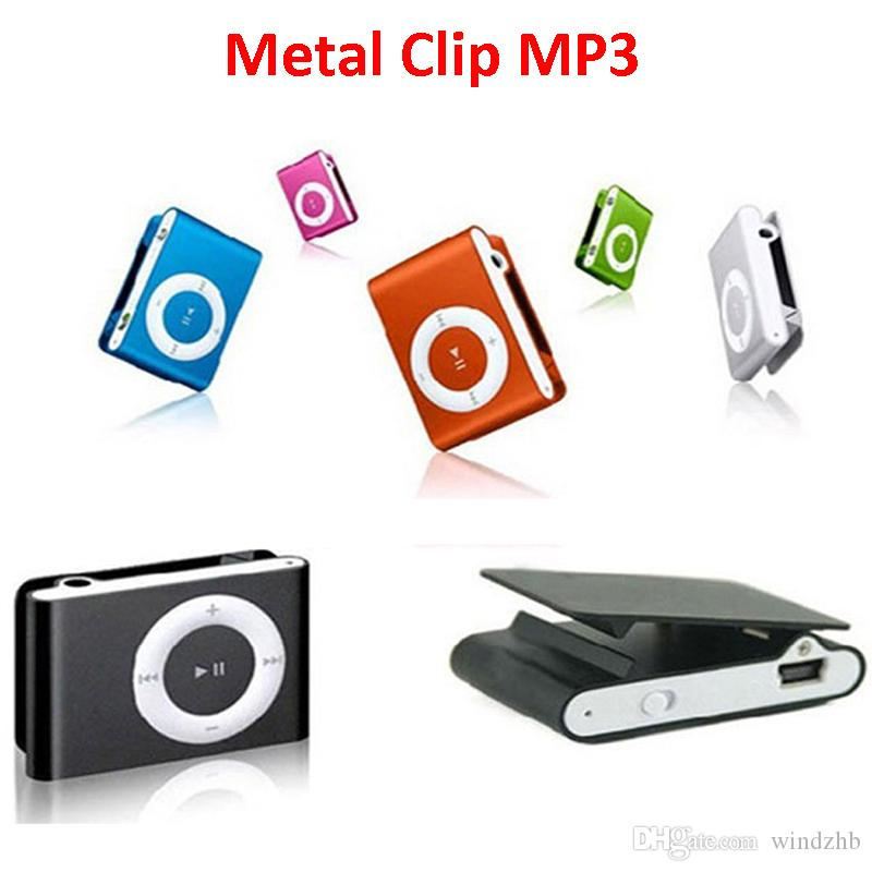 Mini Metal Clip MP3 Player Sports Music Players with Micro SD/TF Card Slot No Memory Card without Earphone USB Cable No LCD Screen