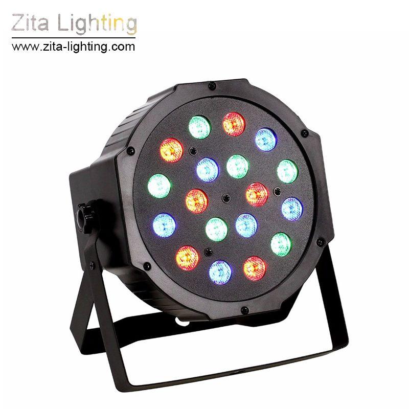 2Pcs/Lot Zita Lighting LED Par Lights Par Can Mini Stage Lighting 18X3W RGBW LED DJ DMX512 Spot Washer Disco Party Effect Atmosphere