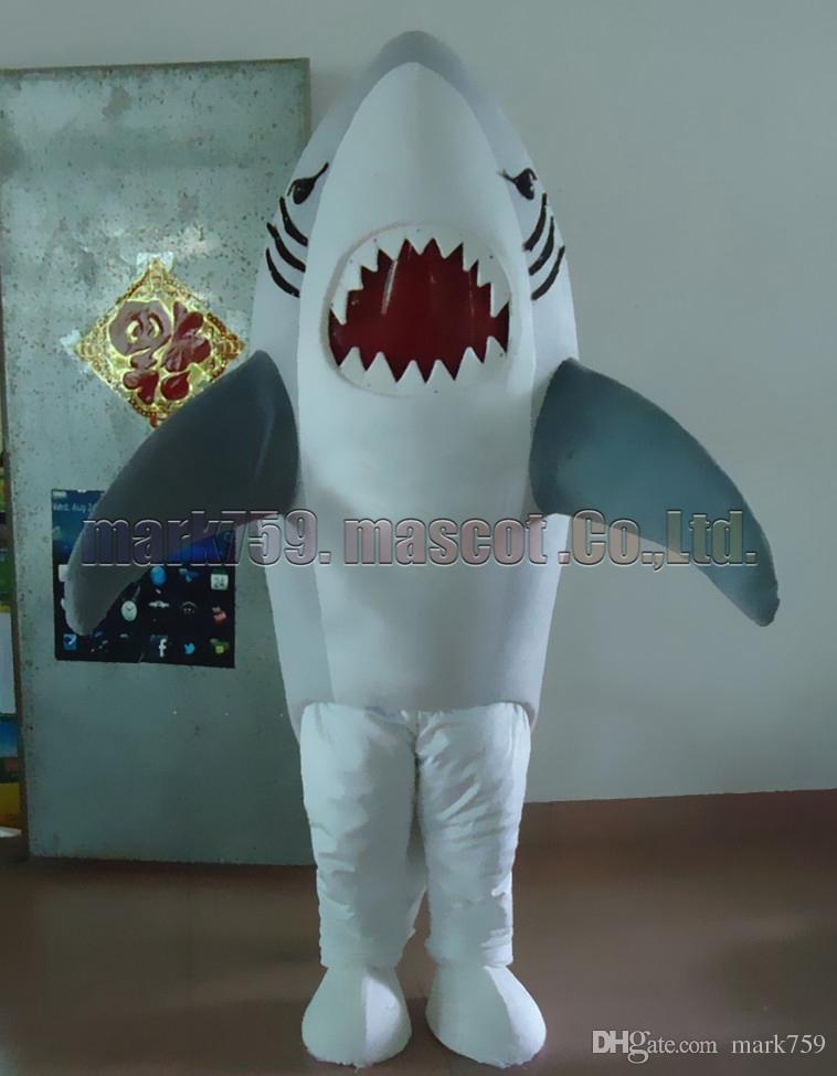 Серая акула костюм талисмана Бесплатная доставка взрослый размер, акула роскошные плюшевые игрушки карнавал партия празднует талисман заводских продаж.