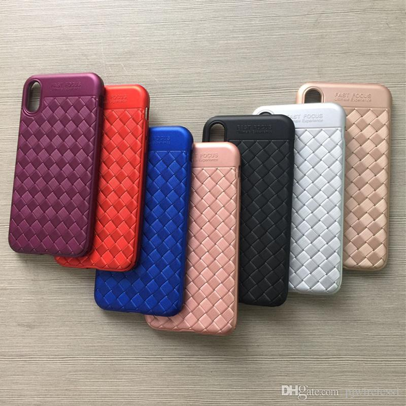 For iphone 8 plus Design Braided Phone cover tpu Case Spray paint TPU luxury Striae Imitation For iphone 7 plus 6 plus B