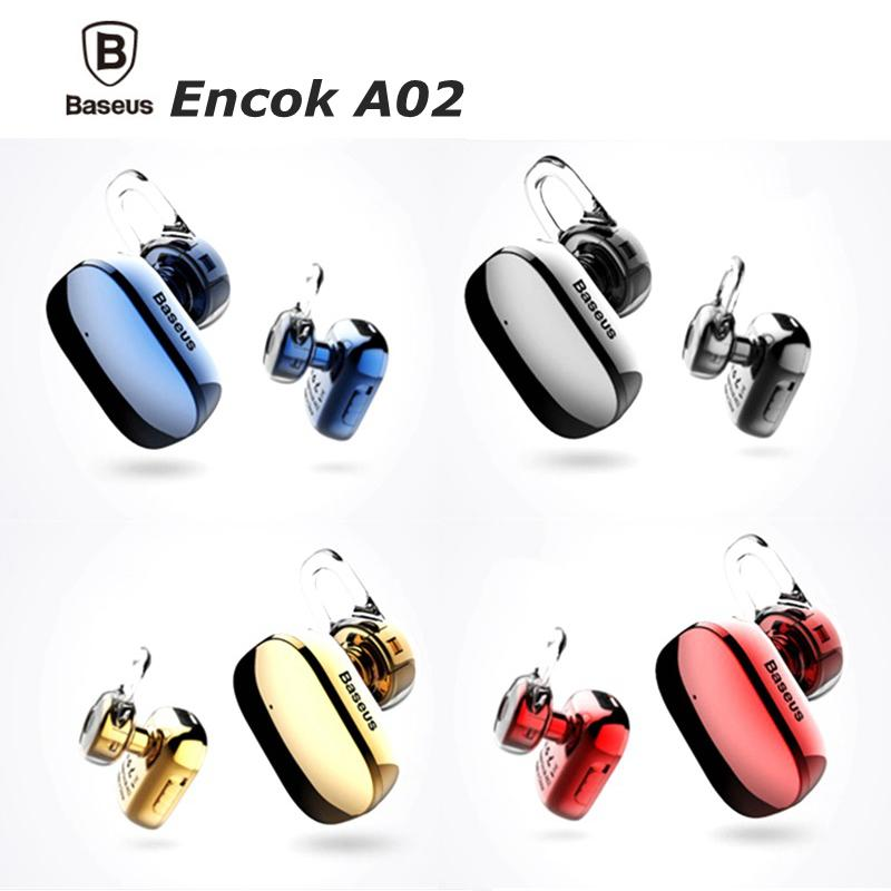 Baseus Encok A02 Bluetooth Headphones A02 Earphones Mini In-Ear Stereo Wireless Earbuds With Mic for Phone and Tablet