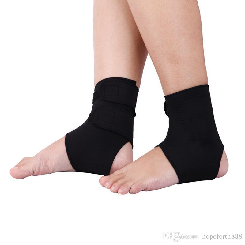 1Pair Tourmaline Self heating Ankle Foot Massage Sprains Heel Crack Protecting Ankle Pads Magnetic Therapy Ankle Brace Support