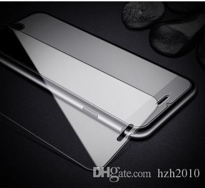 الشاشة الزجاج المقسى 9H 2.5D قسط حامي للحصول على اي فون X 8 7 زائد 6S 5 0.26mm اقية السينمائي الحرس لسامسونج S8 مع حزمة البيع بالتجزئة