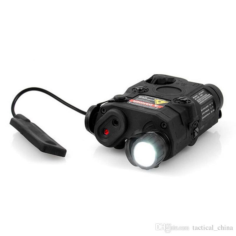 FMA AN / PEQ-15 LED ضوء أبيض + أحمر ليزر ث / الأشعة تحت الحمراء العدسات 270 شمعة AK التكتيكية مضيا DE / BK