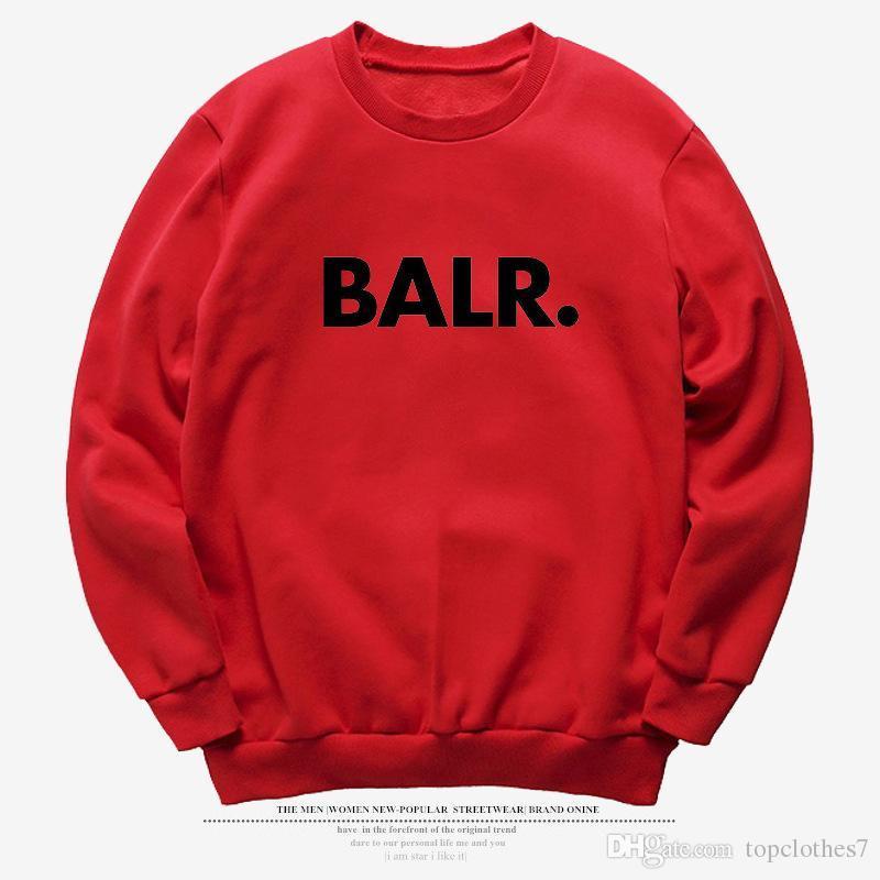 Мода 2018 BALR повседневная мужская толстовки толстовка прохладный хип-хоп с длинным рукавом пуловер мужская спортивная пальто Бегун спортивный костюм толстовка