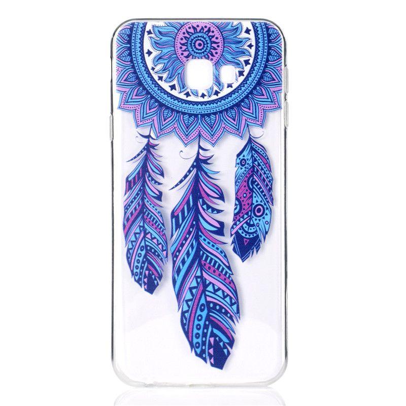 TPU suave transparente para Samsung Galaxy J4 Plus cubierta de la caja decoración del color de la torre de la bicicleta Butterfly Girl diseño del teléfono móvil Shell