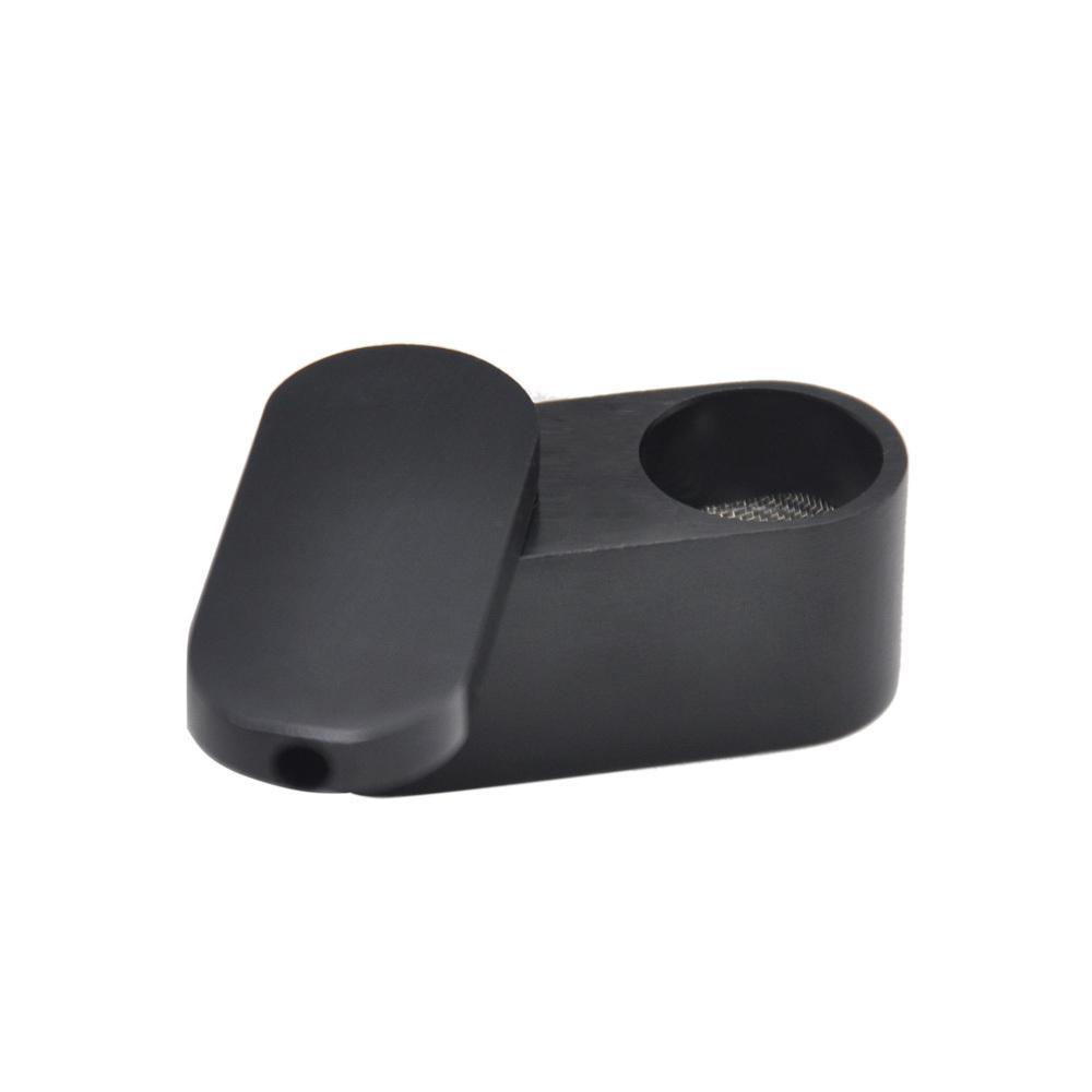 Atacado mais recente flexível portátil de alumínio de fumo tubo de metal tubulação de metal mini cogumelo tabaco tubos de cigarro fumar acessório