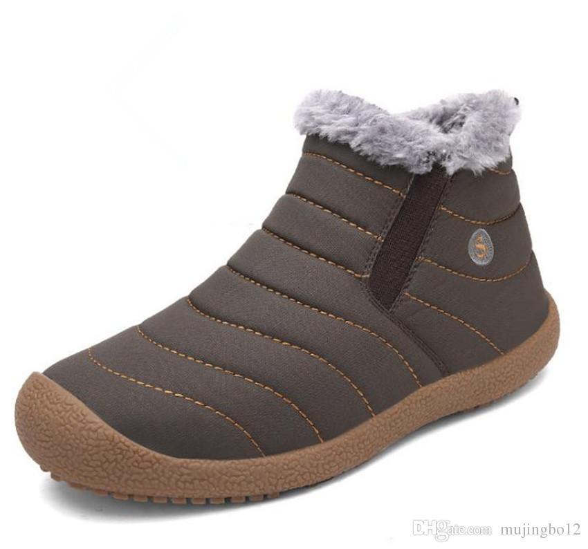 Yeni yan tümce bombsman kar kar ayakkabıları erkek giyim ısı tutma düşük kauçuk balıkçılık erkek bebek üniforma