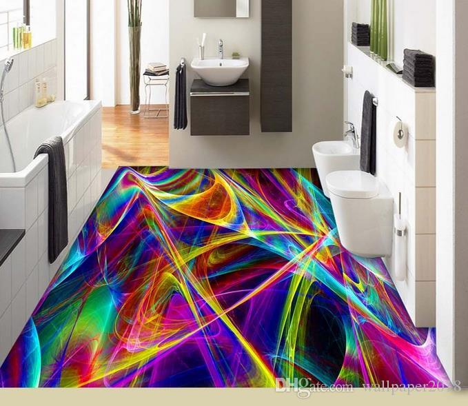 3d Stereoscopic Wallpaper Beautiful Colorful Abstract Lines