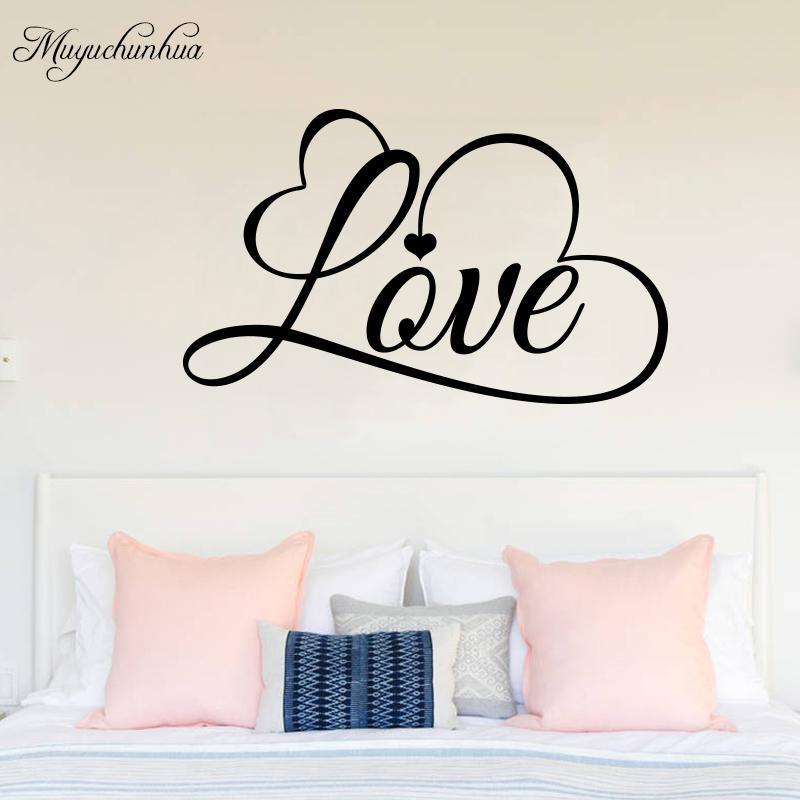Acquista Muyuchunhua Romantic Love Wall Sticker Camera Da Letto Decorazione  Della Casa Creativo Stickers Murali Modren Vita Vinilos Decorativos Para ...