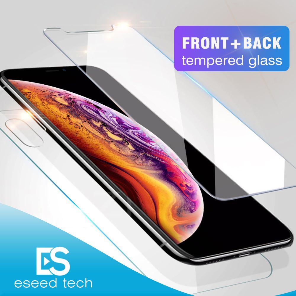 Frente y parte posterior trasera CAMBO vidrio templado para el nuevo Iphone XR XS MAX X Protector de pantalla de Cine de 0.26mm 2.5D 9H Anti-romper con el paquete