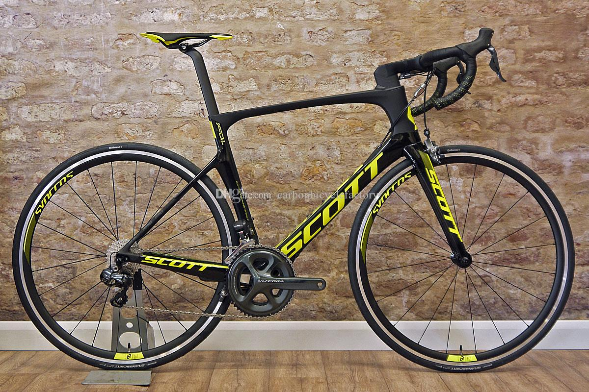 With 105 R7000 groupset SCOTT Foil complete bicycle full carbon bike frames 50mm carbon wheels 23mm width Novatec A271 Hubs Free shipping