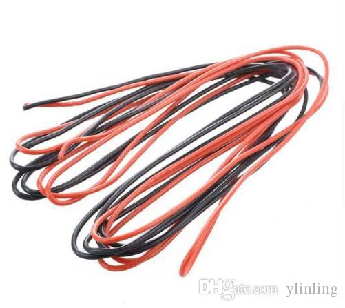 2x 3M 16 Gauge AWG Silicone Rubber Wire Cable Red Black Flexible