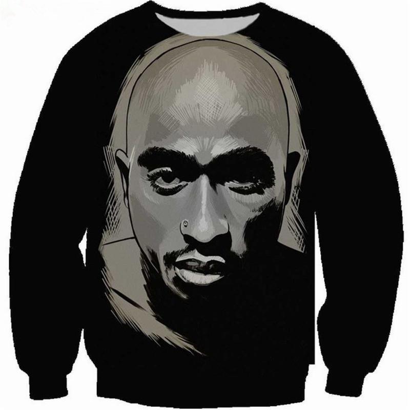 Nouvelle Arrivée De Mode Hommes / Femmes 2pac Tupac Drôle 3D ImpriméSweatshirt Style De Mode Casual Sweat B269