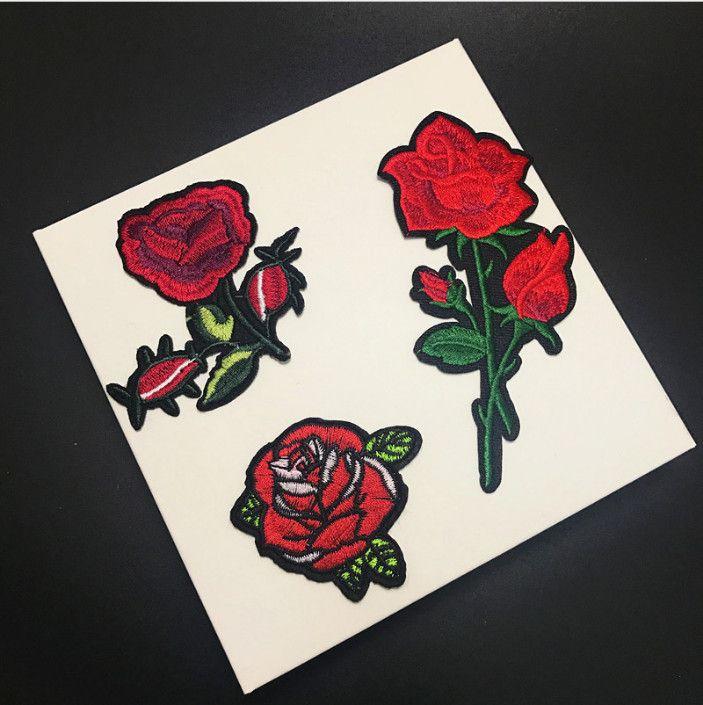 20 X Floral Patch Applique Item Set Embroidery Iron//Sew On Badge Motif Wholesale
