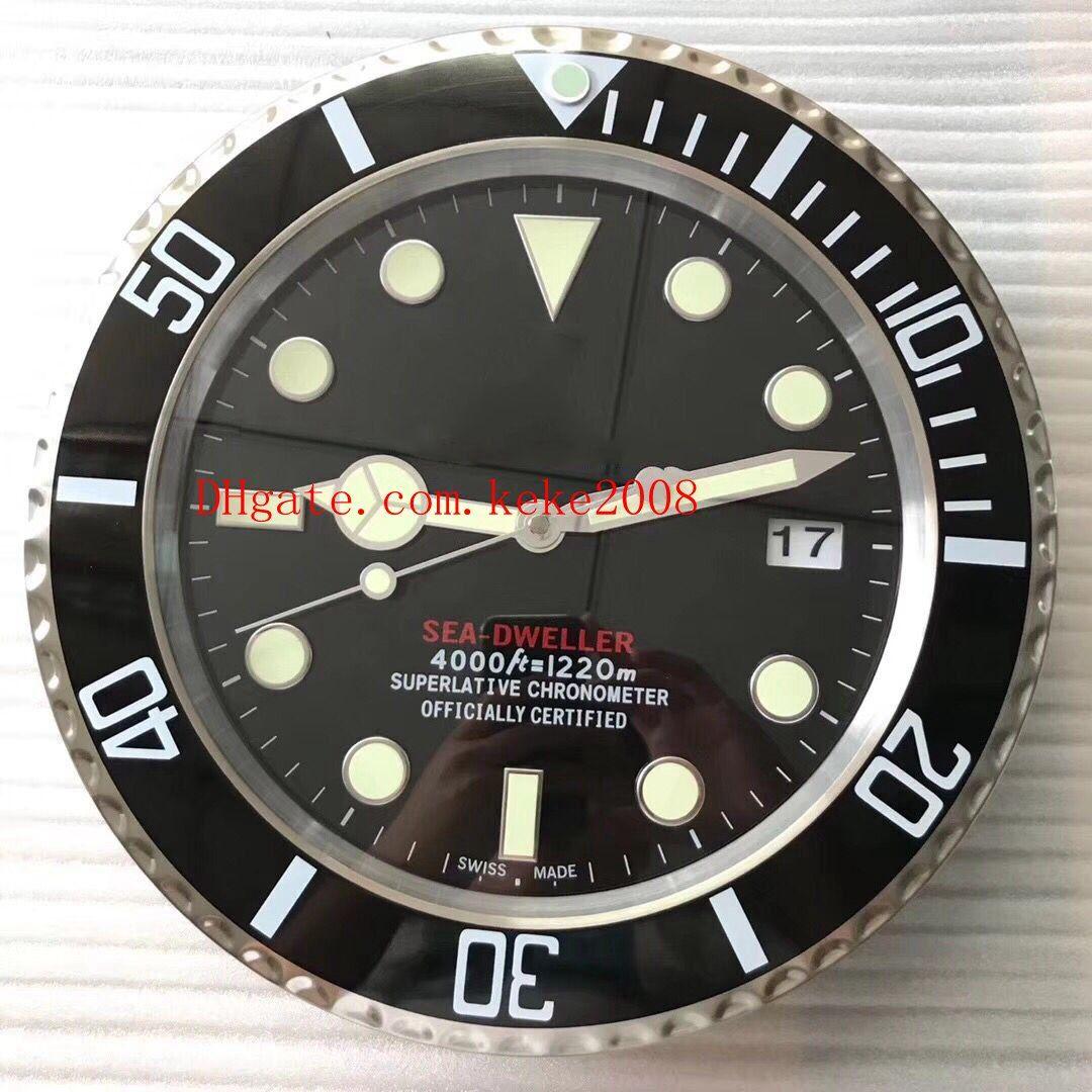 5 cores Excelente Classic Series relógio de parede SEA 126660 126600 116660 34 CM x 5 CM de Aço Inoxidável Quartz Chronograph Casa Decoração relógio