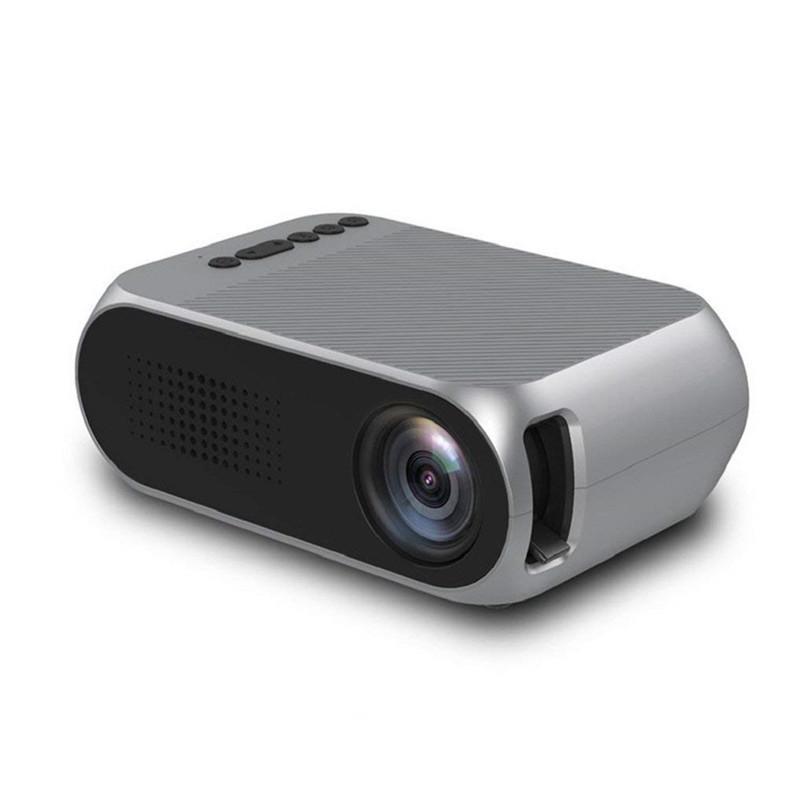 미니 프로젝터 홈 시어터 YG320 미니 홈 시어터 시네마 TV 휴대용 LED 프로젝터 HDMI / USB / SD / AV 1080 마력 HD 프로젝터 무료 배송