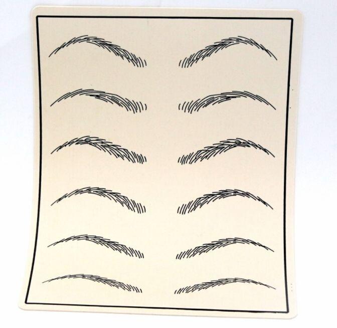 10pcs cosmétique maquillage permanent sourcils pratique de la peau de tatouage approvisionnement de la peau faux sourcils pratique de la peau de tatouage pour Microblading