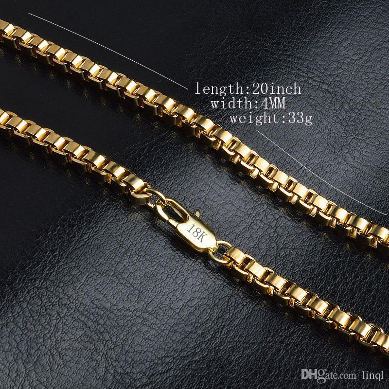 4mm Art und Weise Luxuxschmucksachen 18k Gold überzogene Kettenhalskette für Mannfrauenketten Halskettengeschenke Großverkaufzusatz-Hip-Hop KKA1541