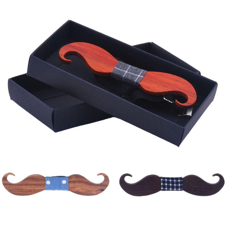 Mode Good Wood Bow Tie Hommes Femmes Classique Mustache en bois Nolvety Bowties Cravates Creative main papillon cravate 3D