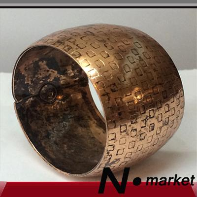 New Arrival N.market Factory Round Special Copper Metal Napkin Rings For Wedding Barrel Type Table Napkin Holder Decoration