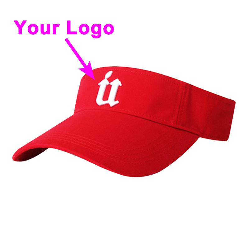 Güneş kap kavisli vizör baskılı logo olmadan taç 100% pamuk yetişkin boyutu ayarlanabilir tenis golf şapka beyzbol özel kap ücretsiz kargo
