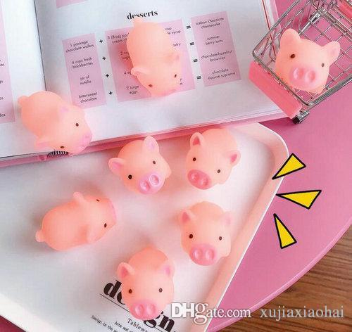 5 cm de dibujos animados lindo grito pink cerdo animal suave aplastante pinchazo curación ventilación juguete mochi estrés reliever decoración decomestion juguetes niños regalo