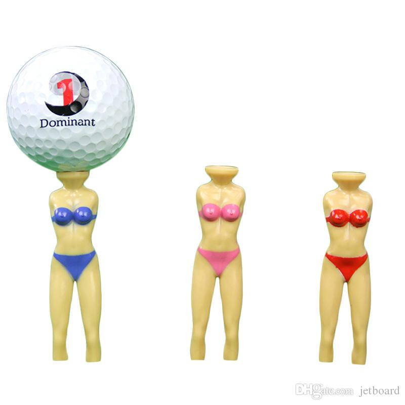 2PCS / Set Гольф Тис Пластиковые Бикини Модель Golf Ball Nail Открытый Спорт аксессуары Красота Sexy Girl Ролевые игры Гольф Тис