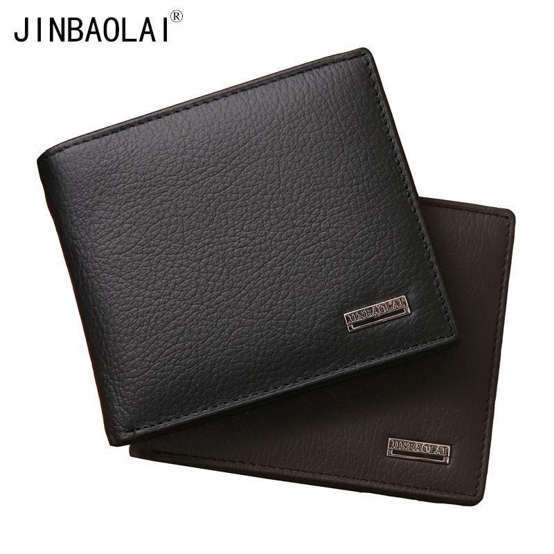 Echtes Leder Brieftasche Männer Berühmte Marke Geldbörse Brieftaschen Leder Mit Münzfach Cartera Hombre