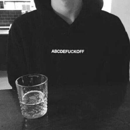 Hot abcdefuckoff  Men Women loose plus velvet Hoodie outdoor sweater Coat