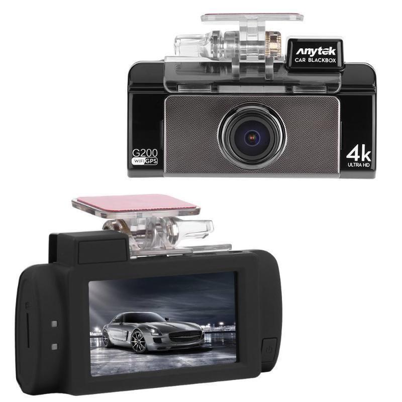 Car DVR 2.7in HD Dual Lens 4K UHD WiFi Camera Night Vision GPS Logger Dash Cam